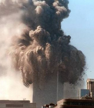 WTC North Tower at Start of Collapse