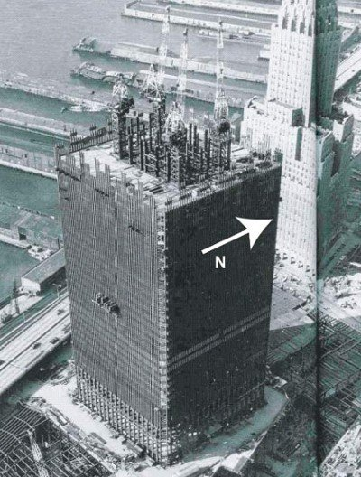 WTC North Tower During Construction