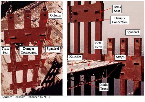 WTC Spandrel Plates and Floor Trusses